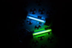 Radioactive lights. GTLS - gaseous tritium light source Stock Photography