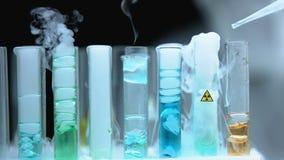 Radioactive liquid dripped into substance emitting smoke, weapons development