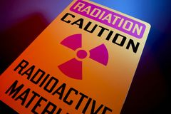 Radioactive materials sign Royalty Free Stock Photo