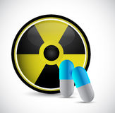 Radioactive medicine and pills illustration design Royalty Free Stock Image