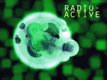 Radioactive Mutant Hulk Organic Cell with Text Royalty Free Stock Photo