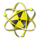 Radioactive nuclear symbol with electrons royalty free illustration
