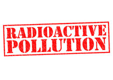 RADIOACTIVE POLLUTION Royalty Free Stock Image