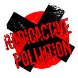 Radioactive Pollution rubber stamp Royalty Free Stock Photography