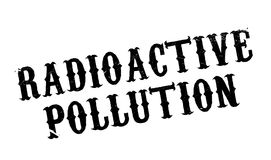 Radioactive Pollution rubber stamp Stock Image