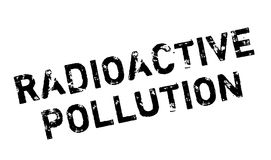 Radioactive Pollution rubber stamp Royalty Free Stock Photo