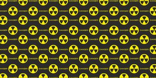Radioactive radiation danger nuclear atomic background vector. Radioactive radiation danger nuclear atomic alert background vector Stock Photography