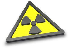 Radioactive radiation sign Royalty Free Stock Photography