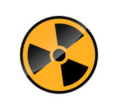 Radioactive round sign isolated on white Stock Photography
