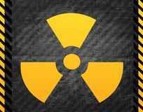 Radioactive sign. With grey detailed background of schemes vector illustration
