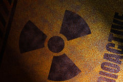 Radioactive sign royalty free stock photo
