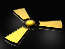 Radioactive sign royalty free illustration