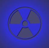 Radioactive Sign Blue stock photos