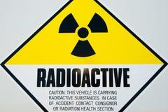 Radioactive Sign. On Survey Vehicle Royalty Free Stock Image
