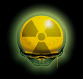 Radioactive skull Stock Photography
