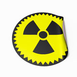 Radioactive Sticker Stock Photography