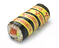 Radioactive Radiation Sushi Food Royalty Free Stock Images