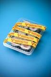 Radioactive Sushi Food. A conceptual image of radioactive sushi demonstrating the effects of the Japanese Fukushima nuclear plant crisis Stock Photo