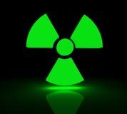 Radioactive symbol. Glowing symbol for radioactive substances. 3d render Stock Photos