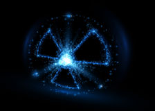 Radioactive symbol, abstract backround. Vector illustration. Royalty Free Stock Photography