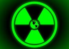 Radioactive symbol with Earth Stock Image