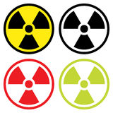 Radioactive symbol in flat design. Royalty Free Stock Photos