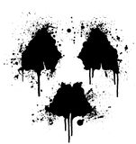 Radioactive symbol ink splatter Royalty Free Stock Photo