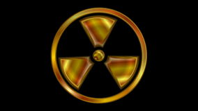 Radioactive symbol video animation. Seamless loop