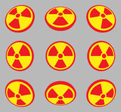Radioactive symbols Stock Photography