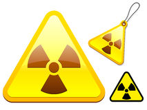 Radioactive tag/icon collection Royalty Free Stock Photo