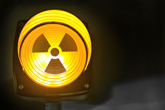 Radioactive warning light Royalty Free Stock Photo