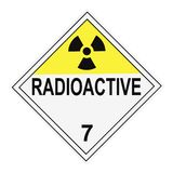 Radioactive Warning Placard Royalty Free Stock Photography