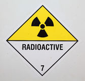 Radioactive Warning Sign. Closeup of large Radioactive Warning Sign Stock Images