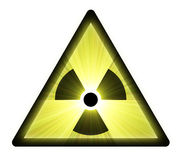 Radioactive warning sign light flare Royalty Free Stock Image