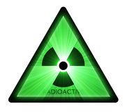 Radioactive warning sign light flare Royalty Free Stock Photography