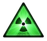 Radioactive warning sign light flare Royalty Free Stock Photography