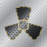 Radioactive warning sign Stock Image