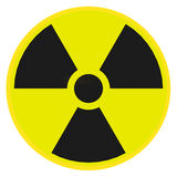 Radioactive warning sign Royalty Free Stock Photo