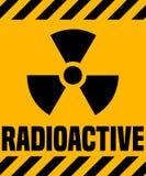 Radioactive Warning Sign. Stock Photo