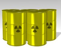 Radioactive waste Royalty Free Stock Photos