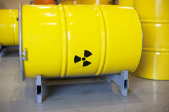 Radioactive waste. Stored in barrels Stock Image