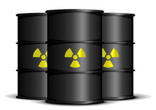 Radioactive waste barrels Stock Photography