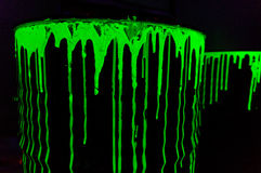 Radioactive waste barrels Stock Images