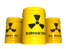Radioactive waste 3D Stock Photos