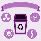 Radioactive waste disposal Stock Photography