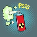 Radioactive waste gas stock illustration
