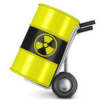 Radioactive waste nuclear power risk Royalty Free Stock Photography