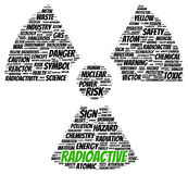Radioactive word cloud shape Stock Photography