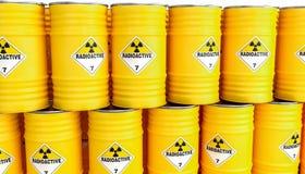 Radioactive yellow barrel vector illustration