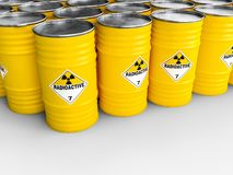 Radioactive yellow barrel royalty free illustration